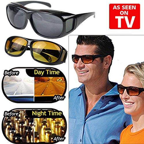 hd vision sunglasses, anti glare night driving glasses for men & women fit over prescription glasses UV400