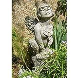Vidroflor Gartenfigur | Fabelfrau CLEO | H: 61 cm | 24 kg | aus massivem Steinguss
