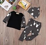 Honeysuck Neugeborene Baby Deer Gedruckt Unterwäsche bequem Baumwolle Set Tops T-Shirt Leggings Hat