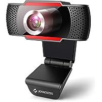 Webcam mit Mikrofon, 1080P Full HD Webcam USB Kamera für PC Laptop Desktop mit Automatischer Lichtkorrektur, Facecam für…