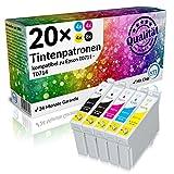 N.T.T.® 20 Stück XL Druckerpatronen, Sparset für Epson T0711 T0712 T0713 T0714
