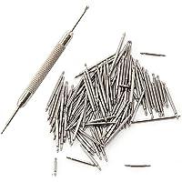 Vixzero - Perni di ricambio a molla, in acciaio inossidabile, per cinturini di orologi da polso, color argento, 108…