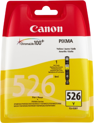 Canon CLI-526 Y Tintenpatrone 9ml, gelb