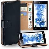 OneFlow Tasche für LG Optimus 4X HD Hülle Cover mit Kartenfächern | Flip Case Etui Handyhülle zum Aufklappen | Handytasche Schutzhülle Zubehör Handy Schutz Bumper in Schwarz