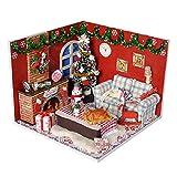 Oshide Puppenhaus Mini DIY House Mit Licht Als Kinder Weihnachten Geschenk 01#