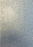 1 Bogen Glitzer-Moosgummi 5 verschiedene Farben zur Wahl (silber)