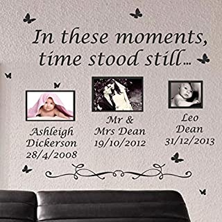 Large In These Moments Time Stood Still Wall Quote Stickers Wall Decal Words Lettering-Black