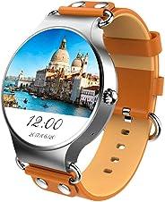 KINGSWEAR KW98 AMOLED SmartWatch, Sim Card, Support 3G, WiFi, WhatsApp, GPS Google Map, Android 5.1. SILVER