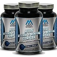 Muscular Autoridad de múltiples vitaminas y minerales complejos 120/240 Tabletas ...