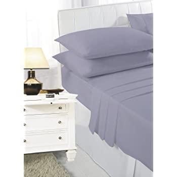 NIGHTZONE Homefurnishing Easy Care Plain Polycotton Fitted Sheet In Single  Double King Super King (Double