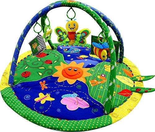 Just4baby Light & Musical Garden Bug Firefly - Alfombrilla de juegos para bebé