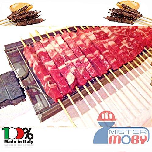 Mistermoby Fornacella Elettrica 20 Spiedini Arrosticini Carne Pane Rosticcera No Fumo Inox
