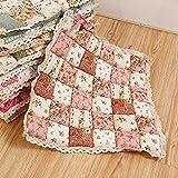Stuhl Pads, Krawatte auf Sitz Square Pad Terrasse Esszimmer Garten Küche Stuhl Kissen, 40cm x 40cm Free Size rose