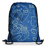 style3 64 Bit Controller Cianografia Borsa da spalla sacco sacchetto drawstring bag gymsac