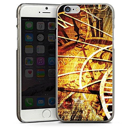 Apple iPhone 4 Housse Étui Silicone Coque Protection Montre Temps Vintage Rétro Collection CasDur anthracite clair
