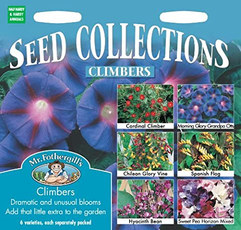 Mr. Fothergill's 11066 Flower Climber Collection Mixed Seed 6 Sachet