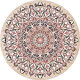 Cuadros Lifestyle 2D-Wandobjekt aus Holz | Mandala | Zeichen | Floral | Radial | Wandteller | Holzbild | Shabby-Look | Landhaus | Vintage | Holzobjekt | Deko | Holzdruck | Geschenk, Größe:ca. 30x30cm