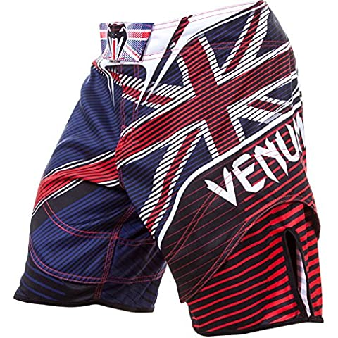 Venum, Pantaloni corti Adulto UK Hero, Multicolore (Blue/Red/Ice), S