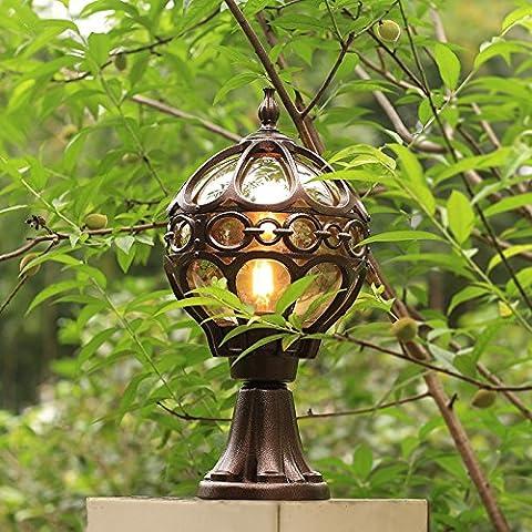 Appliques murales lamp post américano-européen Villa jardin lampes LED jardin porte pilier lampe paysage extérieur imperméable à l'eau