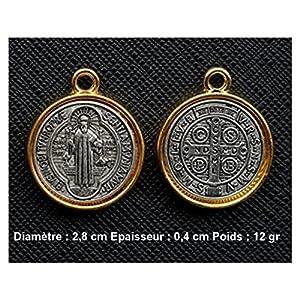 Sehr schöne Medaille des Heiligen Benedikt von Nursia, Patriarch der Mönche des Abendlandes –
