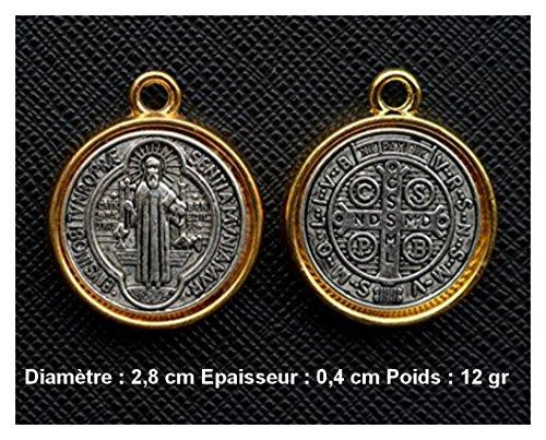 Sehr schöne Medaille des Heiligen Benedikt von Nursia, Patriarch der Mönche des Abendlandes - -