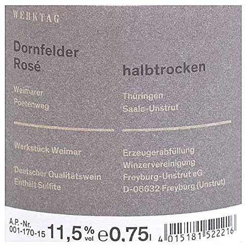 Winzervereinigung Freyburg-Unstrut Werkstück Weimar Dornfelder Rosé 0,75l - 2