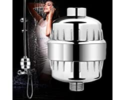 SEEFY 15 Stage Shower Filter For Hard Water - Shower Head Filter Remove Chlorine Fluoride and Harmful Substances - Consistent