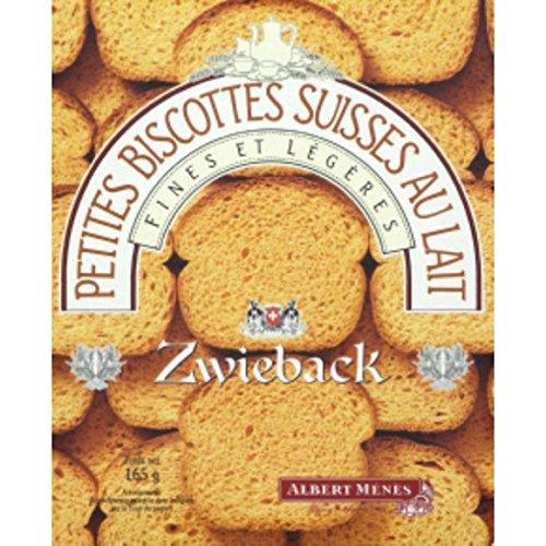 albert ménès Zwieback, petites biscottes suisses au lait, fines et légères - ( Prix Unitaire ) - Envoi Rapide Et Soignée