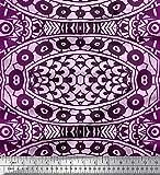 Soimoi Lila Viskose Chiffon Stoff Mandala Kaleidoskop