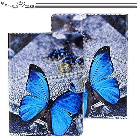 WeLoveCase Funda Para Samsung Galaxy Tab 4 10.1 Pulgada SM-T530/SM-T531/SM-T525 Cartera Cuero Artificial Casco Cascara PU Flip Wallet Standing Anti Polvo Absorción de Choque Completo Protección Resistente Tablet Diseño Creativo Original Nuevamente (Samsung Tab 4 10.1, Dibujo