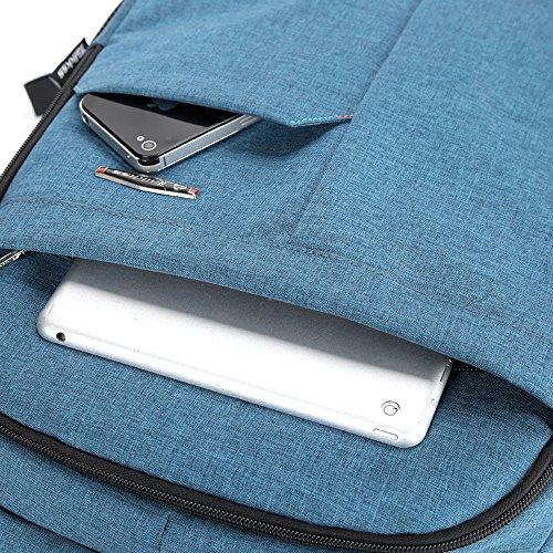 Mocha weir Taikkss Laptop Rucksack Bookbags Kinder Schule College-Reisen Laptop Rucksack (grau01) himmelblau02
