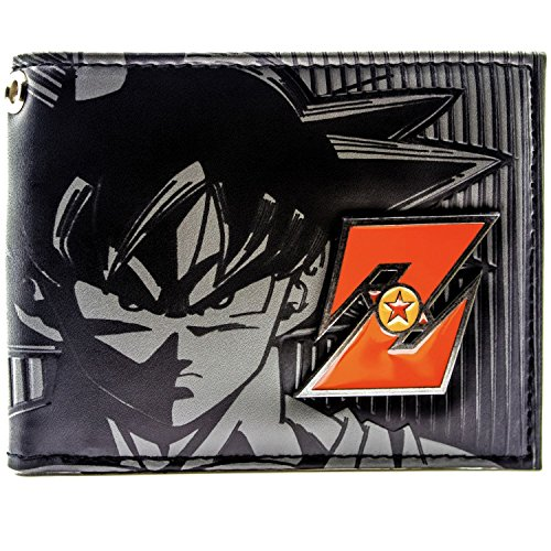 Cartera de Toei Dragonball Z Goku Red Metal Badge Negro