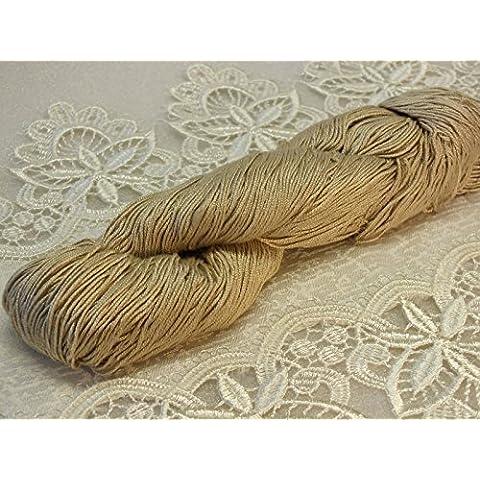 Seta di gelso 100% merletto in seta Filato 100 g Resham ECHI DEL PASSATO Sandolan 12-1403