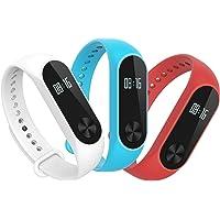 Hianjoo Cinturino Compatibile per Xiaomi Mi Band 2[3-Pack], Regolabile Cinturino Morbido per Cinturini Impermeabile…