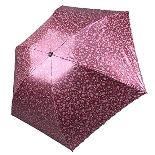 SBBCW High-End Dreier- Regen Oder Sonnenschein Mit Doppeltem Verwendungszweck Sonne Südkorea Mode Druck Meine Damen Regenschirme