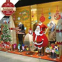 Heekpek Navidad la Decoración del Hogar de Vinilo Ventana Pegatinas de Pared Decorativos Extraíble