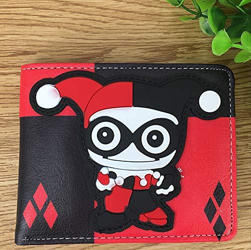 Film und Fernsehen Anime Selbstmordkommando Clown weiblich Wunder Frau Gerechtigkeit Allianz Q-Version Brieftasche PU-Leder Kurze Brieftasche