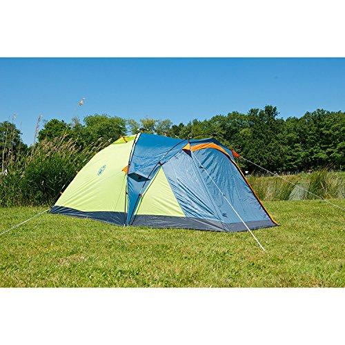 Coleman Fast Pitch Drake, Zelt 4 Personen, 4 Mann Zelt, Igluzelt, Festivalzelt, leichtes Kuppelzelt mit Vorzelt, eine Schlafkabine, wasserdicht WS 3.000 mm - 8