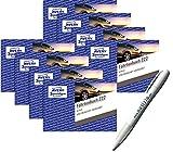 Avery Zweckform 222 Fahrtenbuch für PKW | Aktionspack 10 Fahrtenbücher+ Kugelschreiber Notizio