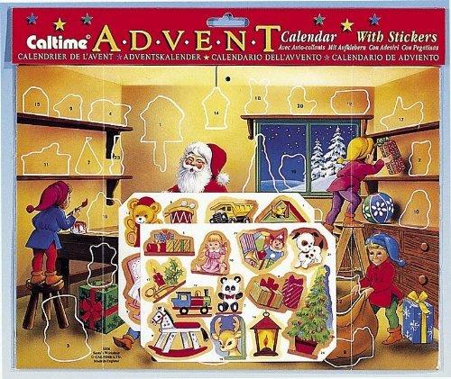 Santa Sticker Advent Calendar
