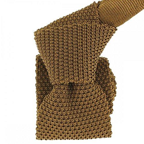 Tony & Paul Men's Plain Necktie brown brown One size