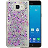 """Coque Samsung Galaxy A5 2016 Silicone Nnopbeclik® Paillettes Briller Style Backcover Doux Soft Transparente Housse pour Samsung Galaxy A5 2016 Coque Silicone """"A510F"""" (5.2 Pouce) Antichoc Protection Antiglisse Anti-Scratch Etui """"NOT FOR A5 2017/2015"""" - [Argent]"""
