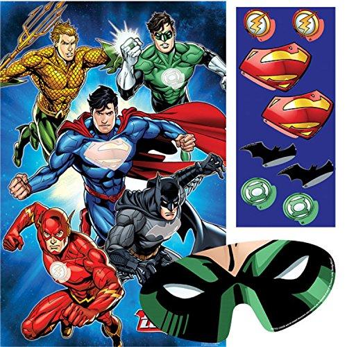 Jungen Mädchen Geburtstag Party Feier Papier Geschirr Dekorationen Gerechtigkeitsliga Batman Superman Aquaman Flash Green Lantern (Party-Spiel)