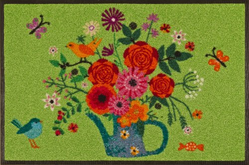 WASH + DRY - ALFOMBRA BOUQUET OF FLOWERS 50X75  VERDE