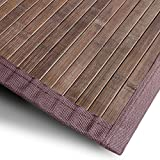 Bambusteppich Tibet (Braun) | für Bad und Wohnzimmer | natürlich wohnen mit 100% echtem Bambus | Bambusmatte in vielen Größen (90x120 cm)