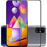 POPIO Tempered Glass Samsung Galaxy M31s / Samsung Galaxy A51 (Black) Edge to Edge Full Screen Coverage