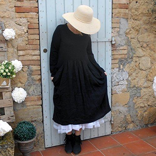 Coklico - Robe Longue shabby 44 46 48 - M. Tagada Noir