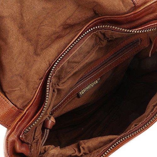 Taschendieb Wien borsa a tracolla pelle 26 cm cognac, braun