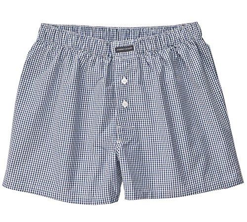 Engelbert Strauss Boxer Shorts, 2er Pack, Größe:7, Farbe:weiß/pazifik+pazifik/kobalt
