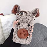 ZYQ Brown Lucky Pig Protector TPU Silicone Skin Etui Case